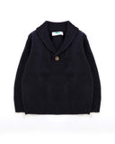Good Times Collared Jumper in Navy Front