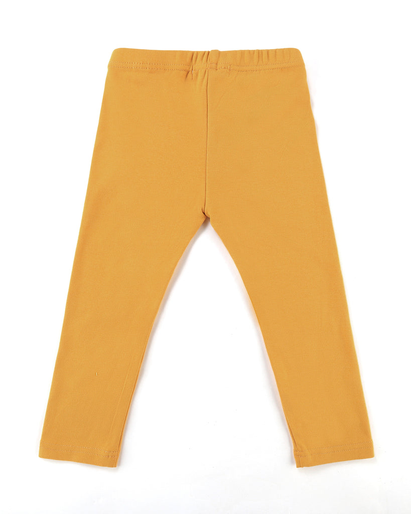 Here to stay Leggings in Mustard Back