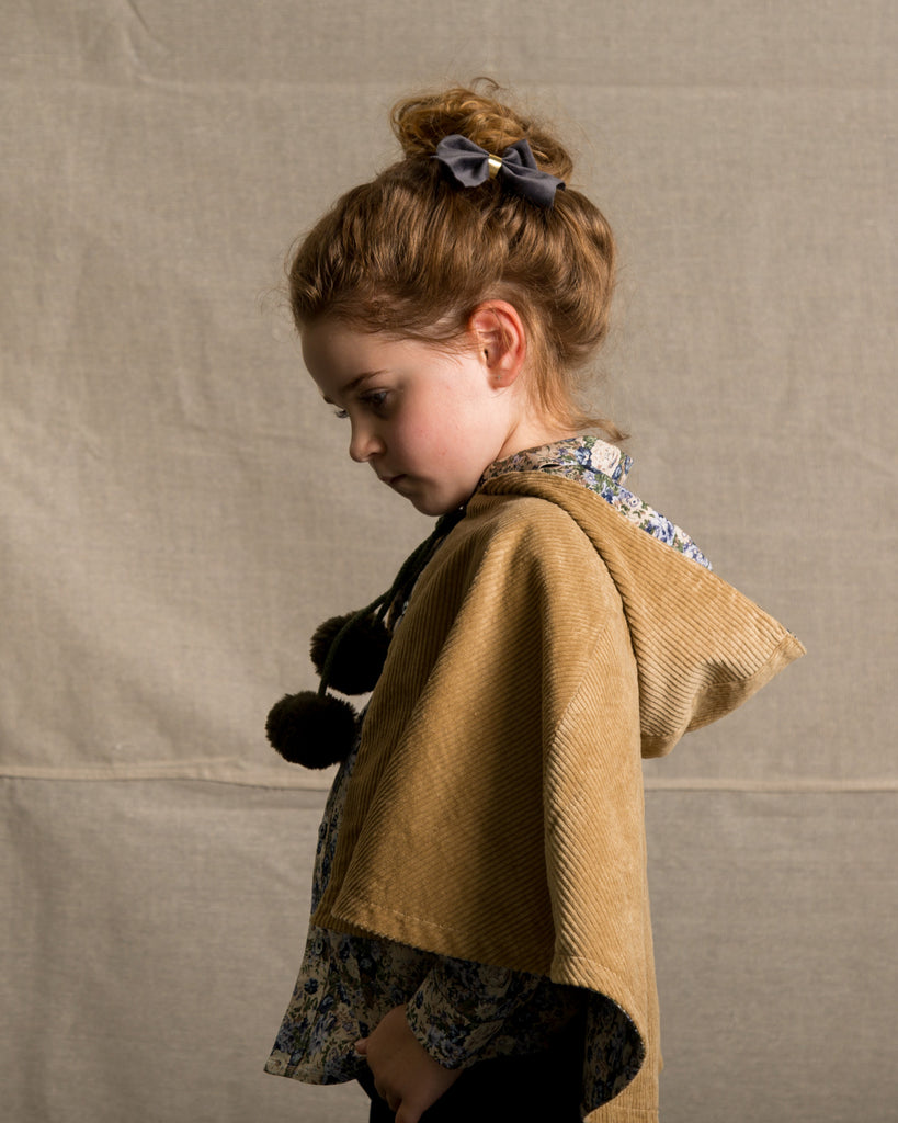 Reversible Floral and Corduroy Cape