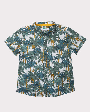 Clover Field Shirt in Teal