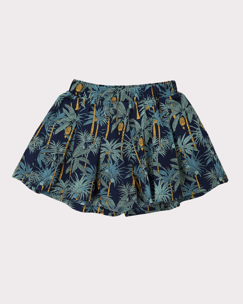 Into the Jungle Skirt In Navy Front