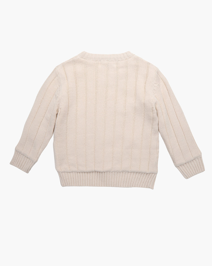 Cosy Cable Knit Jumper in Ivory Back