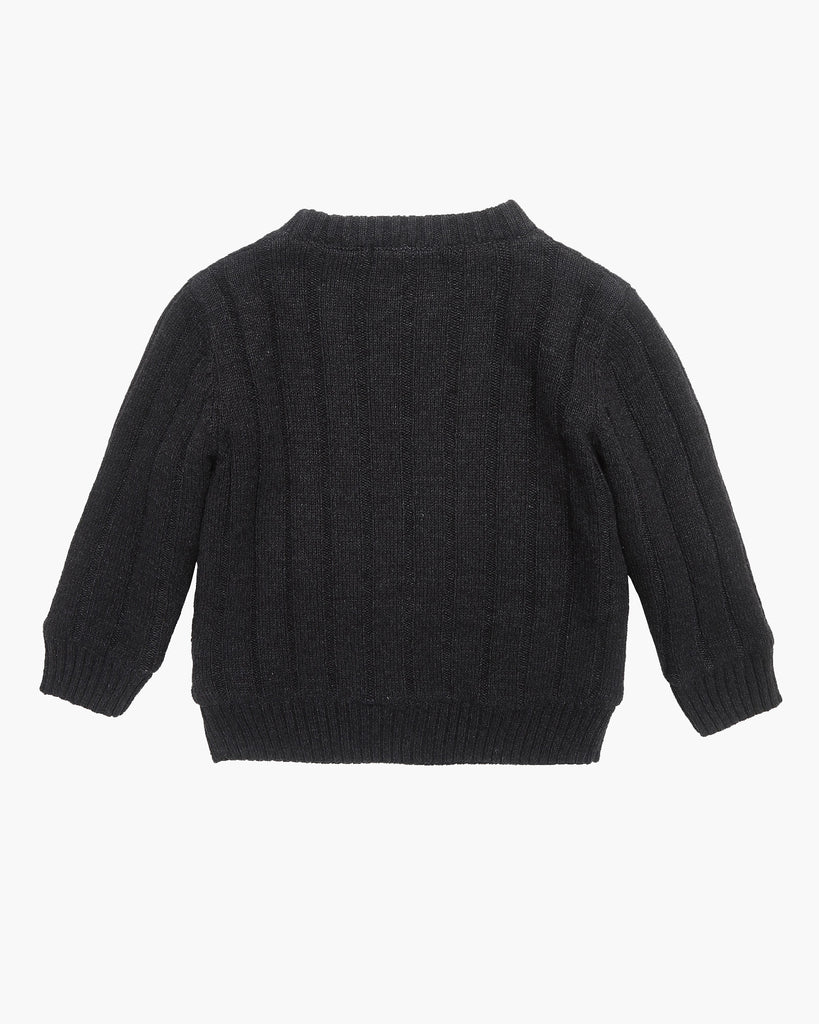 Cosy Cable Knit Jumper in Charcoal