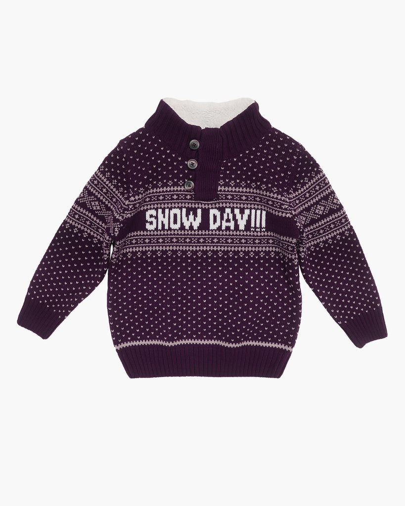 Snowday Jumper in Mulberry Front