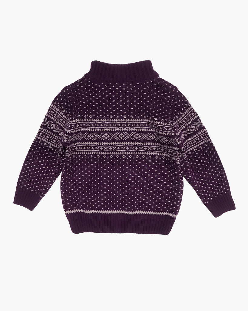Snowday Jumper in Mulberry Back