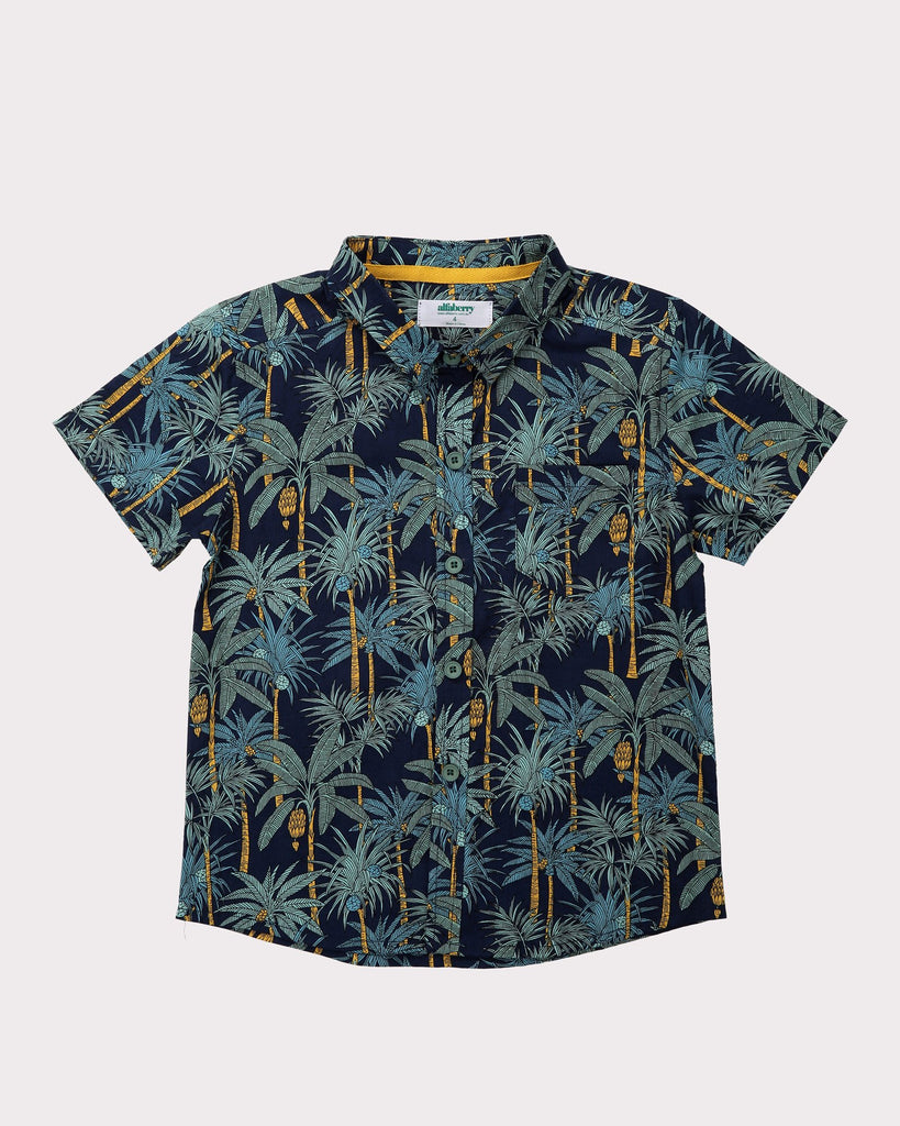 Into The Jungle Shirt In Navy Front