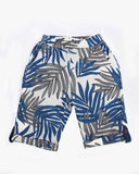 Leaf Print Jersey Cuffed Short back