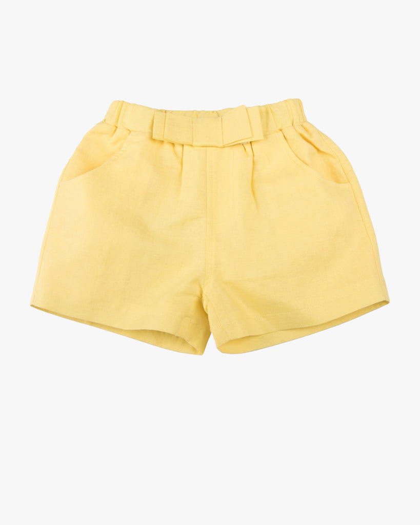 Linen Dress Short yellow