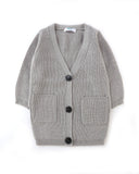 Long Length Cardi in London Grey Front
