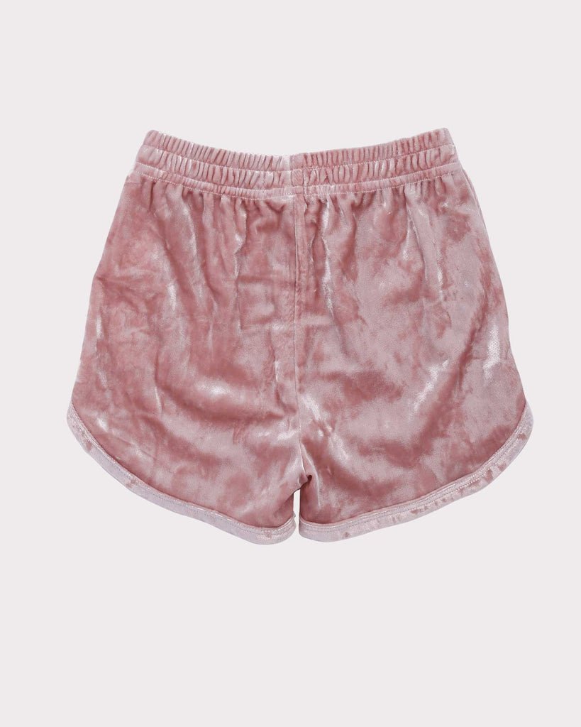 Luxe Velvet Short in Pink back