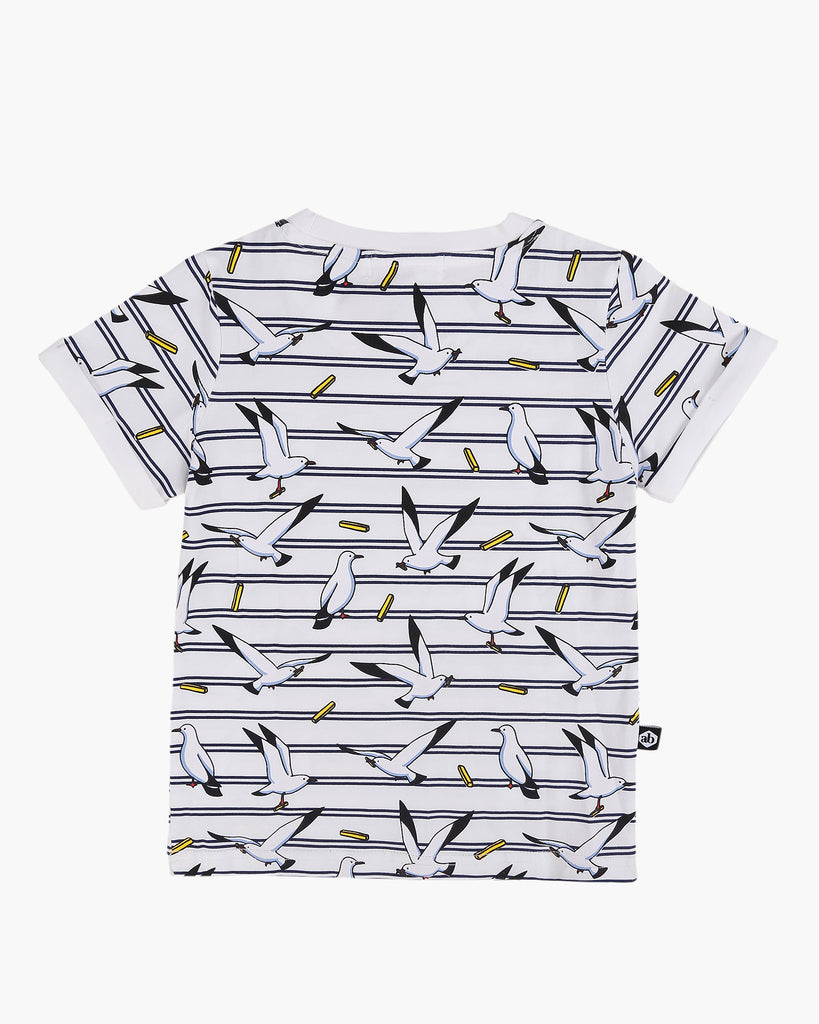 Seagulls and Stripes Tee Navy Back