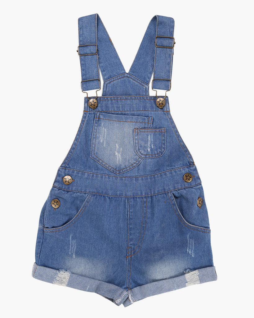 Denim Overall Short Front