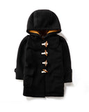 Duffle Coat in Black Front
