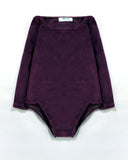 Cosy Bodysuit in Mulberry Front