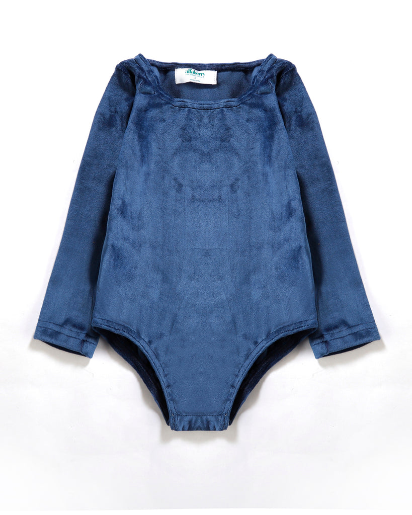 Cosy Bodysuit in Blue Front