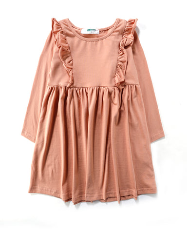 Luana Frill Dress in Safari