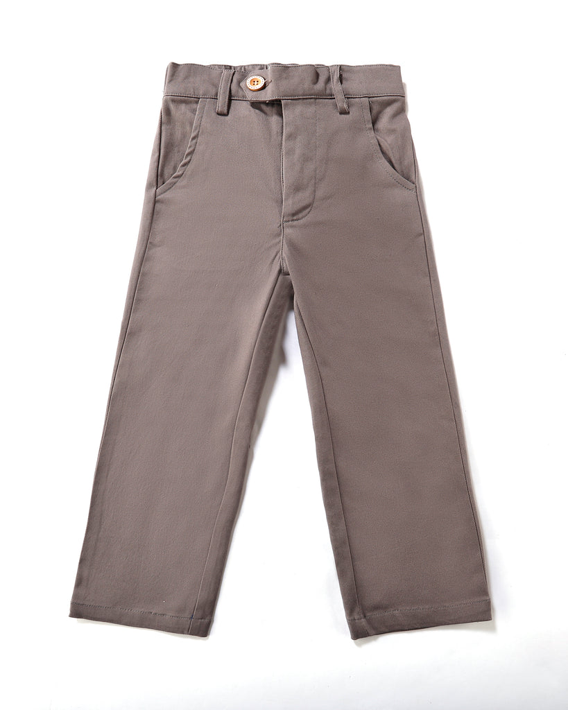 Signature Chino in Steel Front