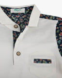 Paisley Park Polo white detail