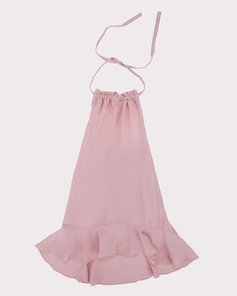 Paper Bag Dress in Pink front