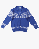 Patterned Cardi Blue Front
