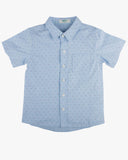 Pin Dot Print Shirt Blue