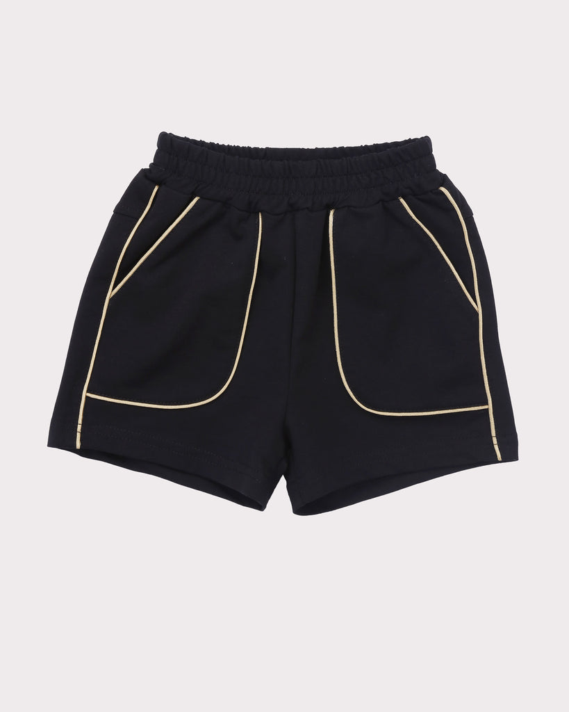 Piping Short in Black front