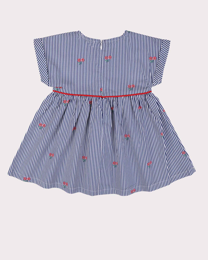 Posies Babydoll Dress in Navy Back