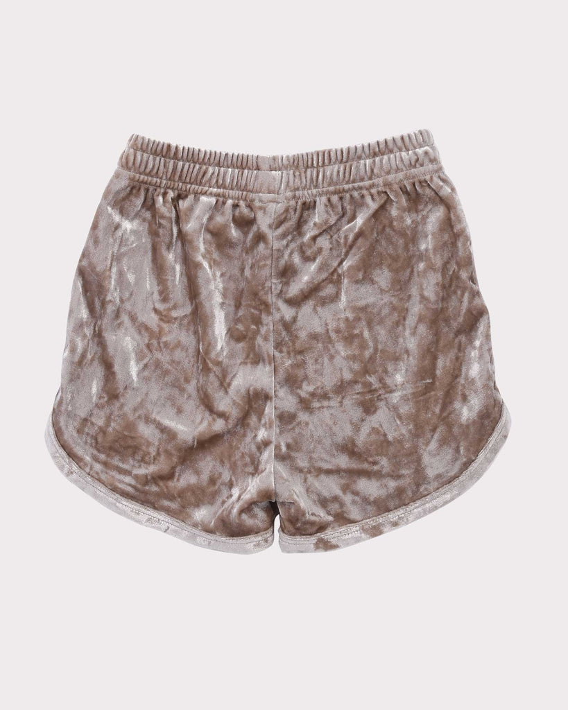 Luxe Velvet Short in Gold back