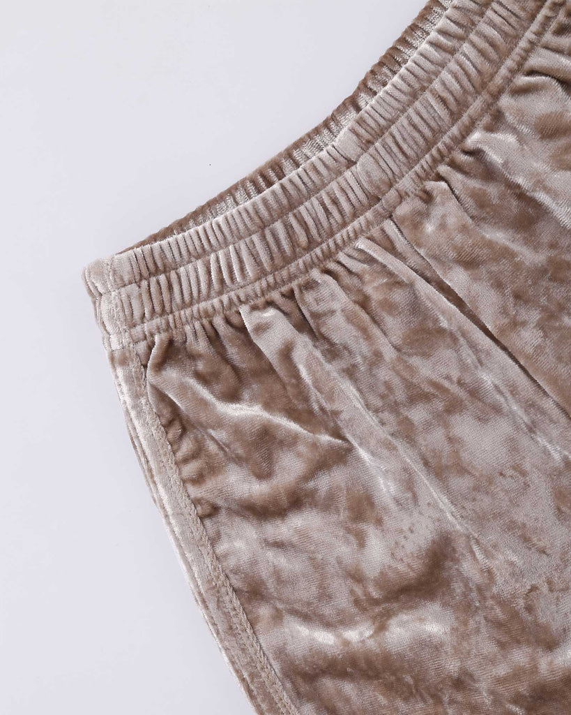 Luxe Velvet Short in Gold detail