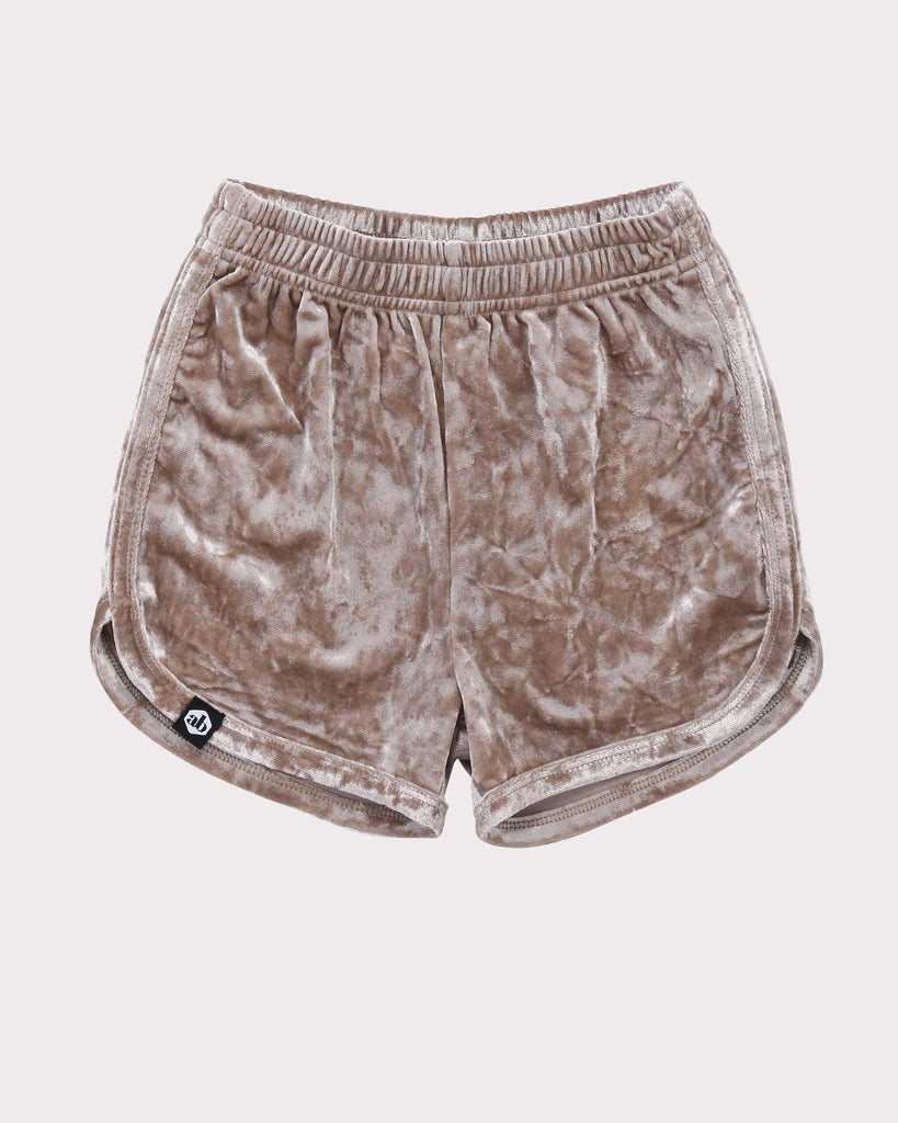 Luxe Velvet Short in Gold front