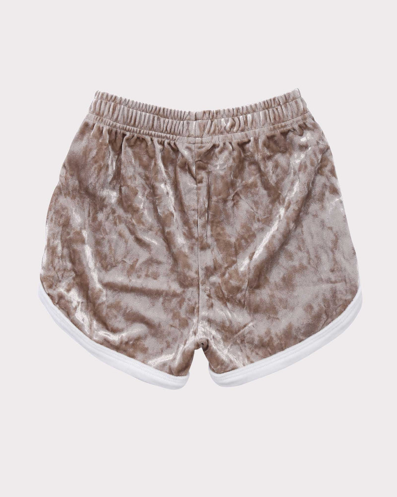 Luxe Velvet Short Gold and White back