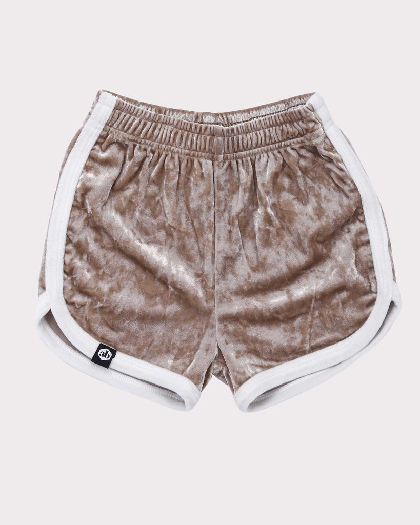 Luxe Velvet Short Gold and White front