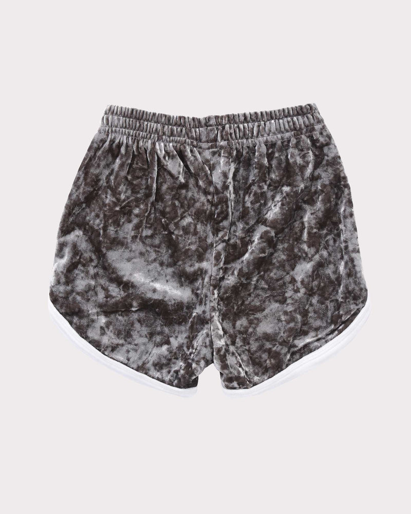 Luxe Velvet Short in Sage & White back