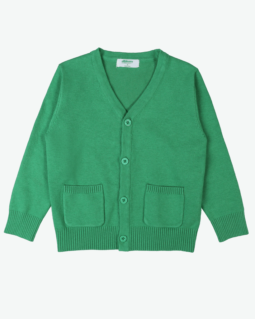 Signature Cardi Green Front