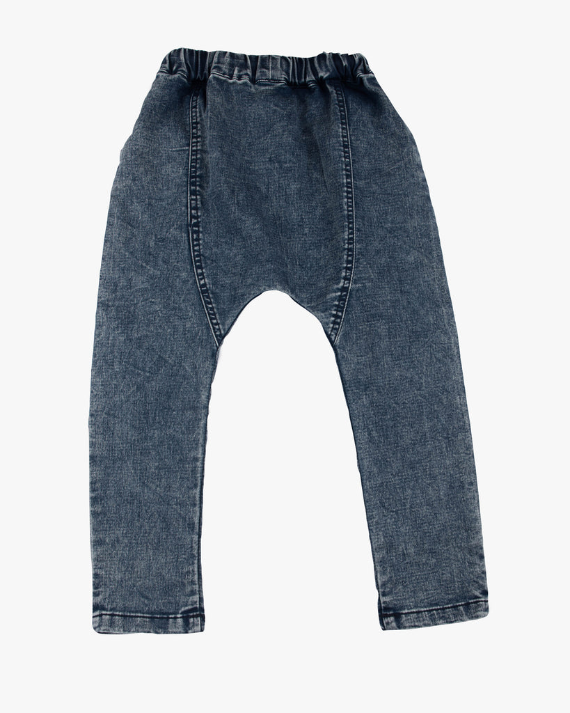 Slouch Jean Stone wash blue back