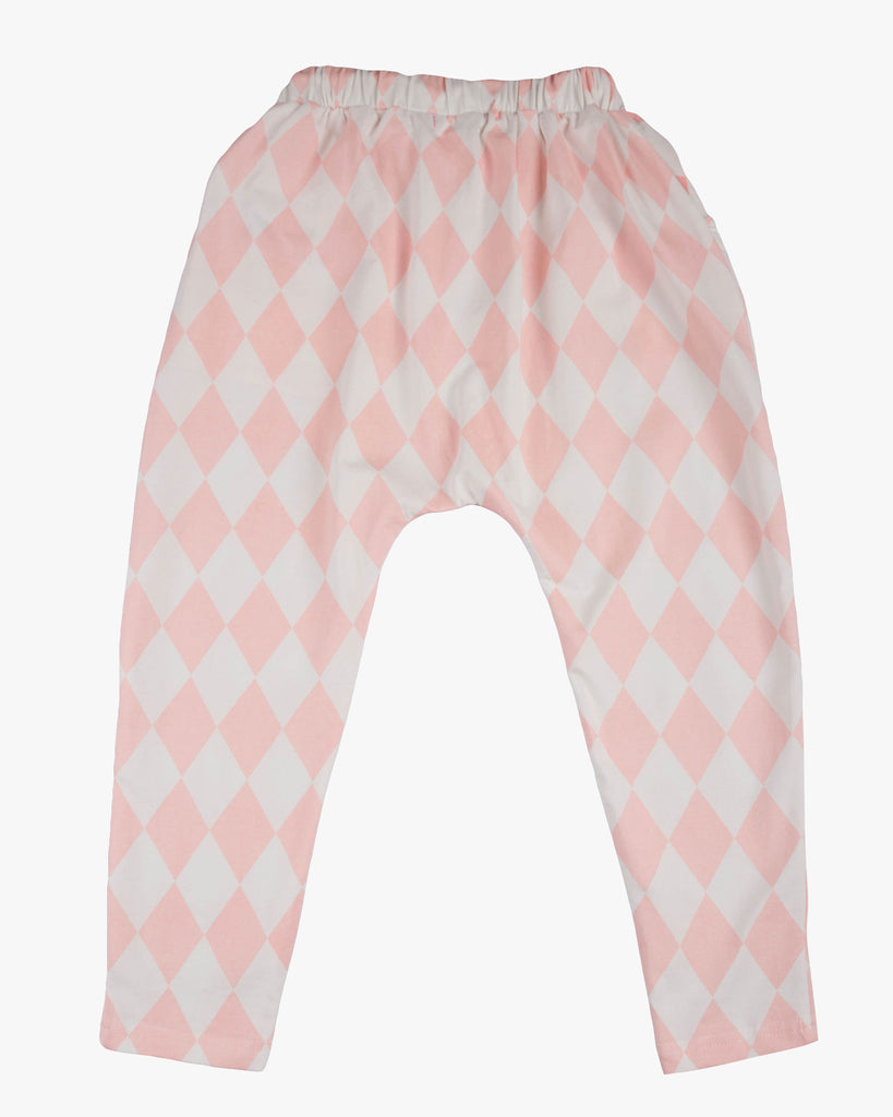 Slouch Jersey Pant harlequin back