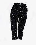 Slouch Pant in Triangle Print black front