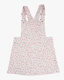 Dungaree Sweet Heart Dress Pink Hearts Back