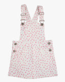 Dungaree Sweet Heart Dress Pink Hearts Front