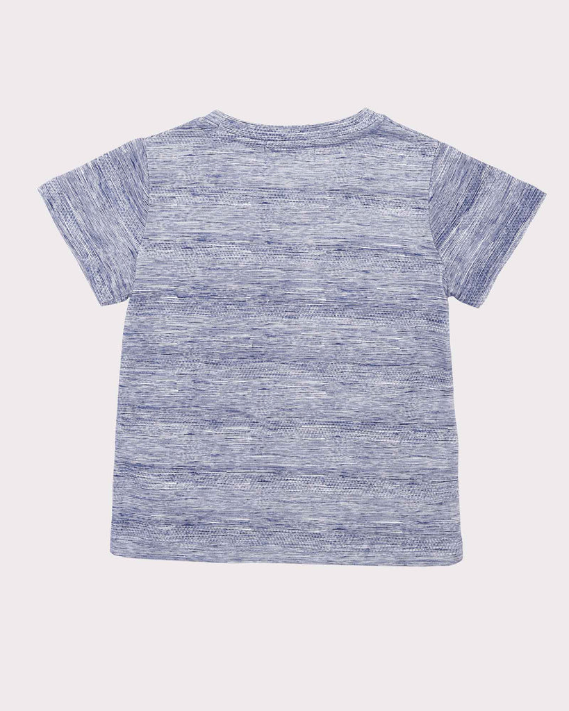 Textured Tee in Blue back