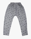 Slouch Pant in Triangle Print grey back
