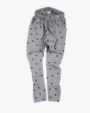 Slouch Pant in Triangle Print grey front
