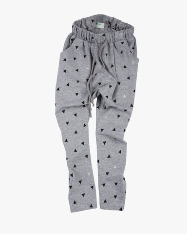 Slouch Pant in Triangle Print on Black