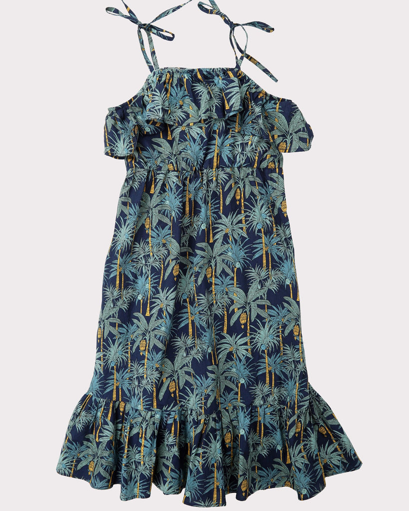 Into the Jungle Maxi Dress In Navy Front