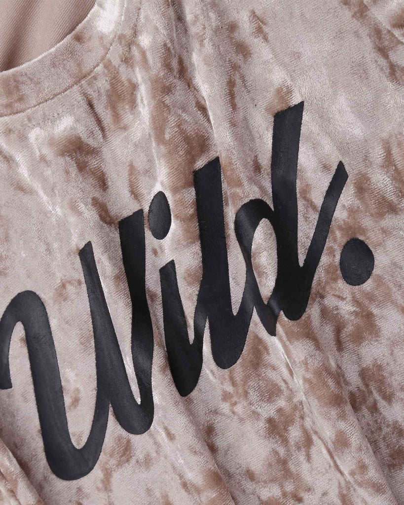 Wild Velvet Tee in Gold detail