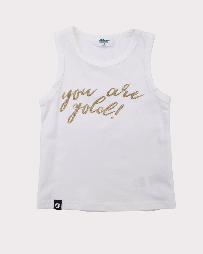 You Are Gold Tee in Coconut front