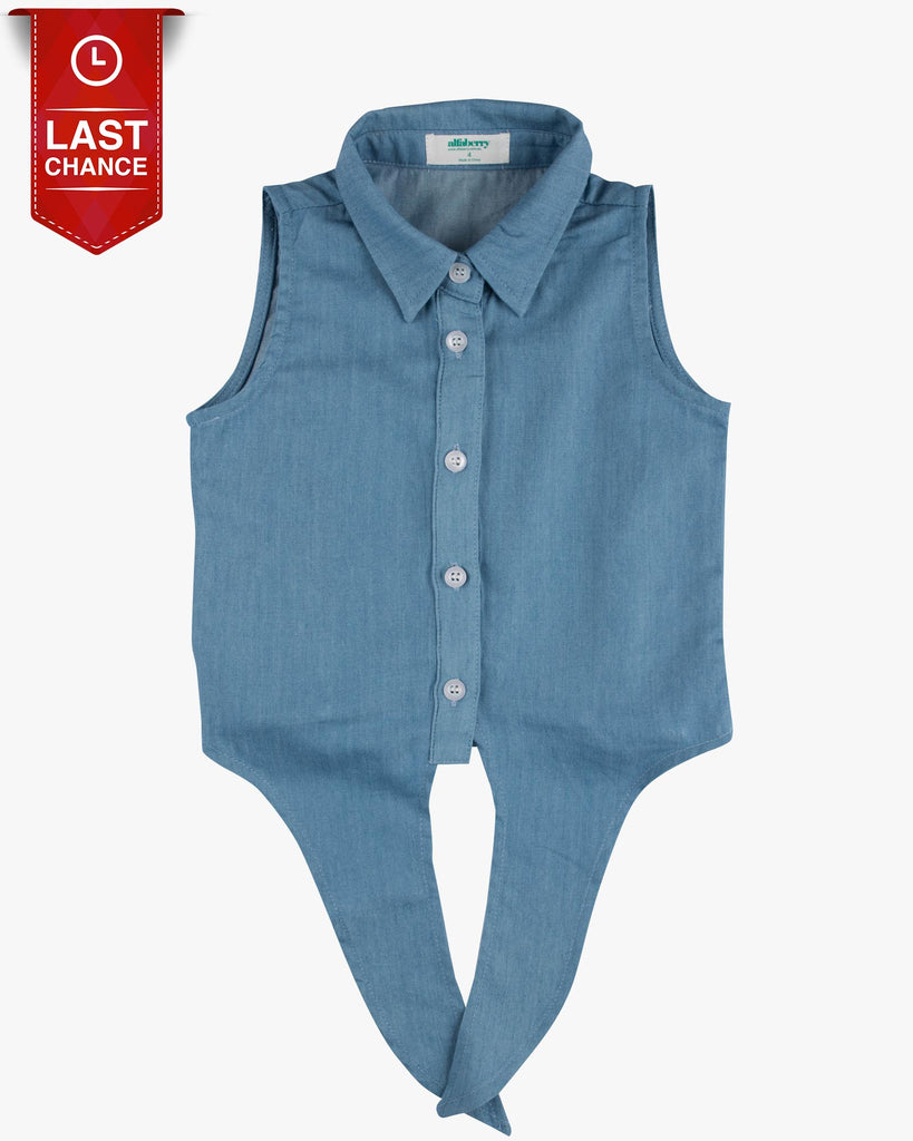 Tie Front Shirt in Chambray