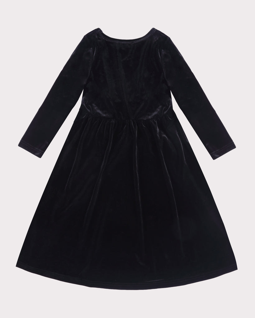 Lead Singer Maxi Velvet Dress Black back