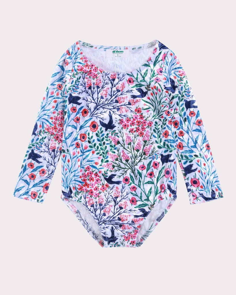 Luxe Floral Bodysuit White Front