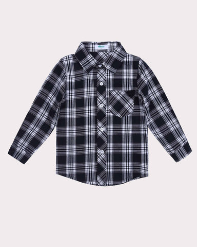 Gingham Shirt in Black